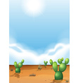 Cacti in the desert vector image vector image