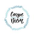 Carpe diem Handwritten latin quote Modern vector image vector image