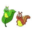 Cartoon caterpillar character vector image vector image