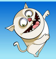 cartoon character cheerful funny chubby cat vector image vector image