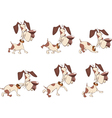 Cartoon Character Cute Hunting Dog for Computer vector image vector image