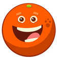 cartoon orange fruit character vector image vector image