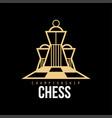 chess championship logo design element for vector image