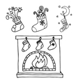Christmas stockings set vector image