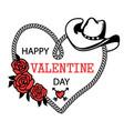 cowboy happy valentine day country farm vector image vector image