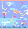 creative artistic spring vector image