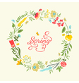 Cute floral wreath in retro style Summer vector image vector image