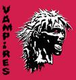 danger screaming vampire woman vector image