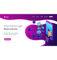 digital era isometric 3d landing page vector image vector image