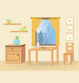 dining room with furniture vector image