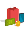 electronic commerce isometrics icons vector image