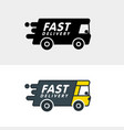 fast delivery logo template concept modern design vector image
