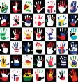 flags in hands kids vector image