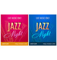 flyer for jazz night party - banner template for vector image
