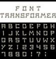 font transformer vector image