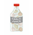 Garlic juice Juice from fresh vegetables Garlic in vector image