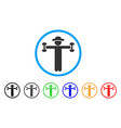 gentleman fitness rounded icon vector image vector image