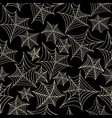 halloween seamless pattern with spider web black vector image