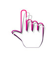 hand sign detachable paper vector image vector image