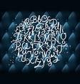hand written alphabet vector image vector image