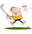 Happy Golfer vector image vector image