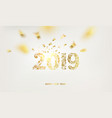 happy new year card over gray background vector image vector image