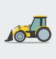 heavy duty construction equipment loader vector image