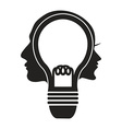 human head lightbulb vector image vector image