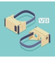 Isometric cardboard virtual reality headset vector image vector image