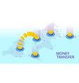 isometric technology online banking money transfer vector image vector image