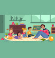 kids playing kindergarten class little children vector image