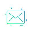 letter icon design vector image vector image