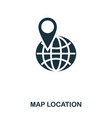 map location icon mobile app printing web site vector image