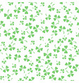 natural chamrock texture clover leaves vector image vector image