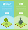 natural landscape design isometric posters vector image vector image