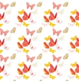 Nature insect pattern butterflies vector image