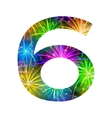 Number of colorful firework six vector image vector image