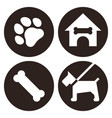 pets icon set isolated on white background vector image vector image