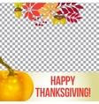 photo frame for thanksgiving autumn vector image