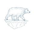 polar bear walking iceberg ukiyo-e