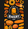 premium quality bakery shop bread and desserts vector image vector image