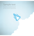 Rocket on sky blue color vector image vector image
