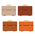 set of four multicolored travel bag vector image vector image