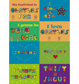 set of funny inscriptions for cards and t-shirts vector image vector image