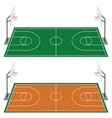 set of two basketball courts vector image vector image