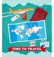 Tourist equipment background vector image vector image