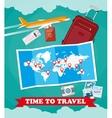 Tourist equipment background vector image