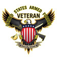 united states armed forces veteran vector image vector image