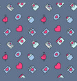 valentines day patterns seamless with hearts vector image