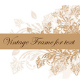 Vintage Frame for Text vector image vector image